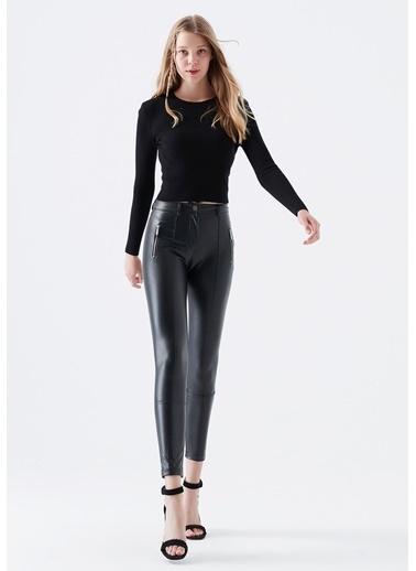Mavi Kadın  Fermuar Detaylı  Pantolon 101254-900 Siyah